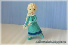 Winter Doll Elsa by Lalka Crochetka | Featured on @beckastreasures Saturday Link Party!