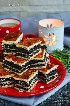 Mákos bejgli szelet Poppy Cake, Fondant, French Toast, Vegetarian, Sweets, Vegan, Cookies, Healthy, Breakfast