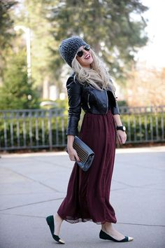 i could make a leather jacket + maxi skirt look so much better than this