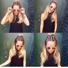 Boxer Braid Half Bun Hair by me: Tina Tobar  Appointments: (312)366-2117 Salon: Renee Feldman Salon Chicago: 1006 N Clark