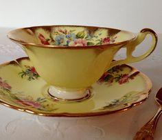 Yellow EB Foley China Tea Cup & Saucer