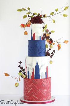 NY Cake show Wedding Entry - Cake by Sweet Euphoria NY
