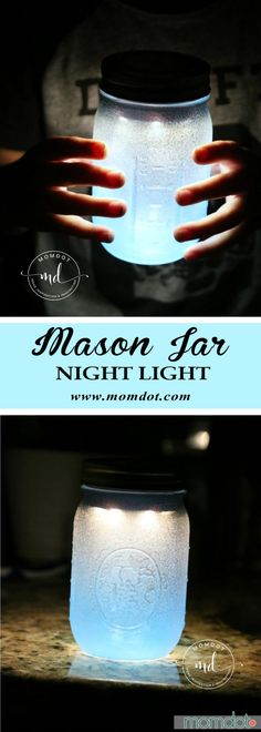 Mason Jar Night Light DIY -