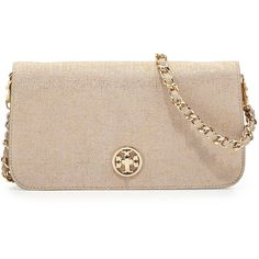 Tory Burch Adalyn Brushed Metallic Clutch Bag, Silver ($297) ❤ liked on Polyvore featuring bags, handbags, clutches, purses, bolsas, silver, chain handbags, silver metallic handbags, metallic handbags and silver metallic purse