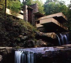Franck Lloyd Wright, maison sur la cascade