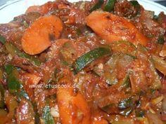 Zucchini-Karotten Salat  -  ყაბაყის და სტაფილოს ცხელი სალათი