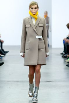 Neoprene jacket for over your semi-casual evening finery.  Iceberg Fall 2014 Ready-to-Wear Collection Slideshow on Style.com