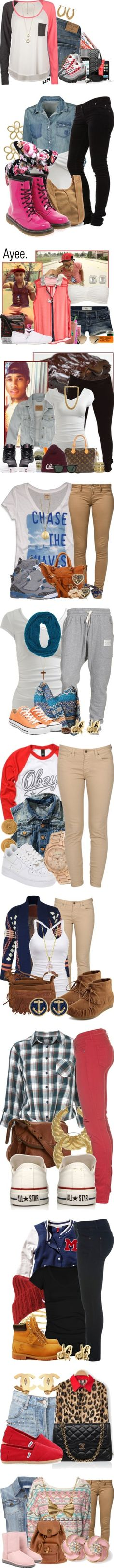 """""""~Stuff I would wear to school (Part 4)"""" by mizzstarburst ❤ liked on Polyvore"""