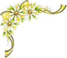 1000+ images about Ecken on Pinterest | Laminas para decoupage, Floral ... Flower Vine Clipart