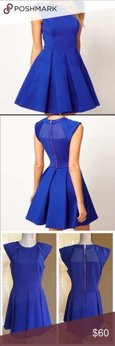 Ted Baker Blue Lantern Skirt Dress Stand out with this fabulous blue lantern skirt dress. It's dry-cleaned fresh and in great condition! It's currently sold out, so get it here! Ted Baker Dresses