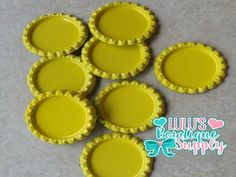 Yellow Double Sided Flattened Bottle Caps