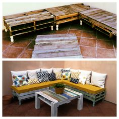 My pallet patio couch project.