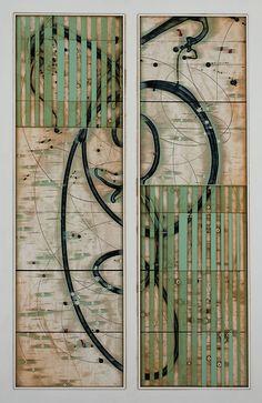 "Jeunesse by Michael Kessler,  Acrylic on Panel,  60"" x 40"""