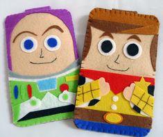 Toys Story collection Woody Handmade felt phone case by MyOwnDoll Felt Phone Cases, Felt Case, Diy Phone Case, Toy Story Crafts, Felt Crafts Diy, Felt Books, Felt Decorations, Toy Story Party, Disney Crafts