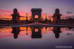 Budapest Chain Bridge at dawn. Places In Europe, Beautiful Places In The World, Budapest Hungary, Most Visited, Tower Bridge, Croatia, Around The Worlds, Marvel, Tours