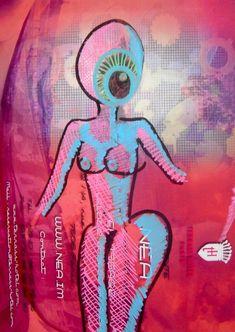 Dessin Original sur Photo Streetart Art Urbain signé Nea Borgel Artprice Brut
