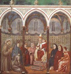 Giotto - Predica davanti a Onorio III - 1297-1304 ca. -  Assisi, Basilica Superiore di San Francesco.