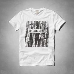 Mens Be Outside Graphic Tee   Mens Graphic Tees   Abercrombie.com ---- This says Men's but I want it :)