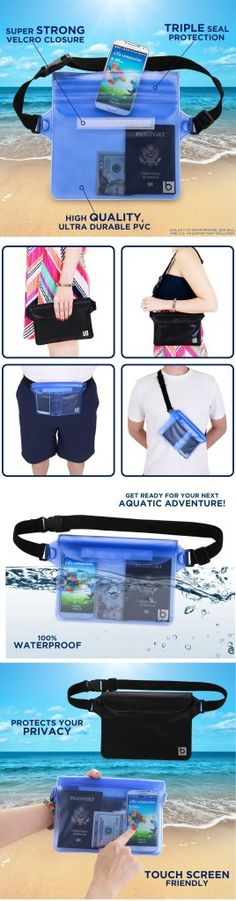 Keep Your Phone and Valuables Safe and Dry with the Waterproof Pouch with Waist Strap