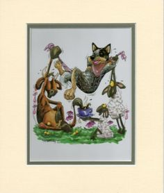 Mini-Print-Australian-Cattle-Dog-by-Mike-McCartney