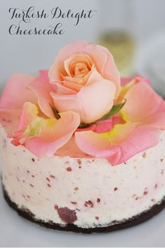 Turkish Delight Cheesecake #foodstyling #roses