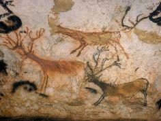 Lascaux - petits cerfs de la salle des taureaux