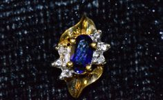 Yellow Gold Sapphire and Diamond chip earrings 14k Earrings, Diamond Stone, Gemstone Jewelry, Sapphire, White Gold, Brooch, Gemstones, Yellow, Stuff To Buy