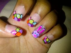 Colorful Easter Eggs#2014 Easter nails#2014 Easter Bunny Nails