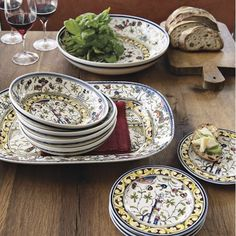 Provence Dinnerware Collection.  I want the entire set of dinnerware and serveware to serve 8 #williamssonoma