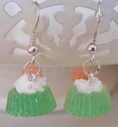 Handmade Mini Scale Polymer Clay Food Earrings  by Sweetystuff, £8.99