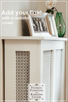 A custom rad cover does SO much more than just hide your radiator. Instead of that ugly radiator, you now have a gorgeous piece of furniture - and more space to decorate your bedroom (or any room! Diy Radiator Cover, Radiator Ideas, Wall Radiators, White Lace Curtains, Return Air Vent, Man Of The House, Vent Covers, House And Home Magazine, Home Decor Trends
