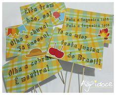 Plaquinhas - Festa Junina. Dica para festa infantil também!