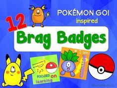 This is a set of 12 brag badges designed to recognize, reward, motivate and encourage students' achievements. Brag Tags, Badge Design, Beginning Of School, Teaching Materials, Pokemon Go, Behavior, Encouragement, Motivation, Education