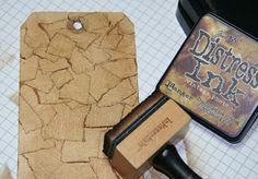 tech: faux leather tech by Iris Garden w/ masking tape tag w ink