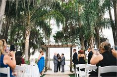 groom and groom getting married at paradise cove orlando