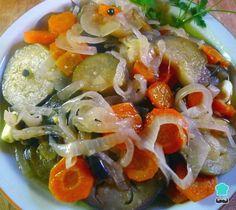 Receta de Berenjenas en escabeche con verduras