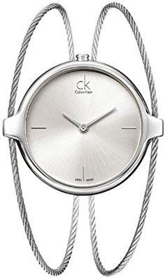 Calvin Klein - Reloj de pulsera analógico para mujer cuarzo acero inoxidable K2Z2 M116 #fashion #moda #circulogpr #primavera #guapa #happy #love #iloveyou #smilling #style #fashioninspiration #beautiful #accesorios #reloj