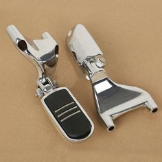 Chrome StreamLiner Style Foot Pegs For Harley Davidson 1986 2013 Touring Models