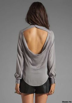 Blusas de moda casual elegante con escote en la espalda | Blusas de moda 2014