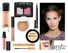 """Untitled #369"" by iuliaandreeab ❤ liked on Polyvore featuring beauty, MAC Cosmetics, NARS Cosmetics, Laura Mercier, Guerlain, Yves Saint Laurent, NYFW and Beauty"