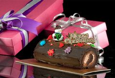 Christmas log cake from The Icing Room, Singapore