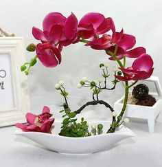 Elegant Fashion creative touch simulation butterfly orchid suits Fake flowers Chinese style household hotel front desk desktop put floral decoration Ikebana Arrangements, Orchid Flower Arrangements, Artificial Orchids, Arte Floral, My Flower, Indoor Plants, Beautiful Flowers, Fake Flowers, Floral Design