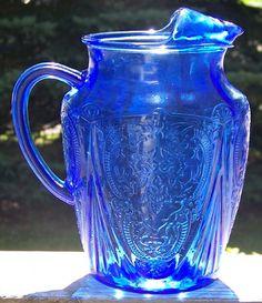*PITCHER ~ cobalt blue glass