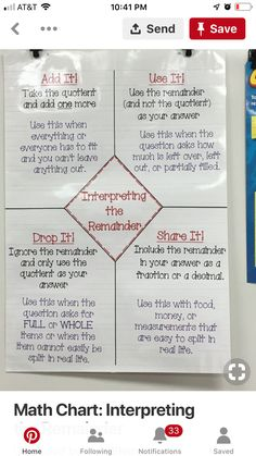 Interpreting the remainder Math Tips, Math Resources, Math Lessons, Math Activities, Division Strategies, Math Division, Long Division, Math Teacher, Math Classroom