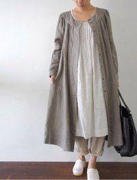 Linen in the Winter - Jacket / Dress [Envelope Online Shop] Michaela Lisette dress: Muslim Fashion, Hijab Fashion, Fashion Dresses, Linen Dresses, Modest Dresses, Look Fashion, Womens Fashion, Fashion Design, Mode Hijab