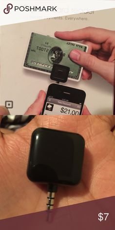 Credit card reader Square reader pair along with the square reader
