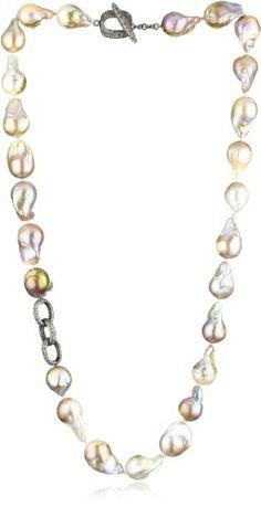 "Jordan Alexander 28"" Champagne Pearl with Diamond Chain Link Necklace Jordan Alexander,http://www.amazon.com/dp/B005XVDCFG/ref=cm_sw_r_pi_dp_-YV3sb1BW76Y1JXX"