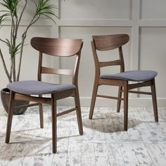 Idalia Mid-Century Fabric Dining Chair (Set of 2) by Christopher Knight Home - Free Shipping Today - Overstock.com - 19550505 - Mobile