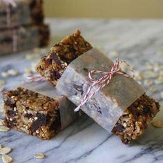Soft Oat & Quinoa Bars with Chocolate Chunks and Cherries