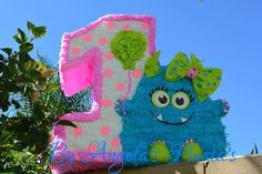 Little Monsters pinata Custom Made little Girly by angelaspinatas